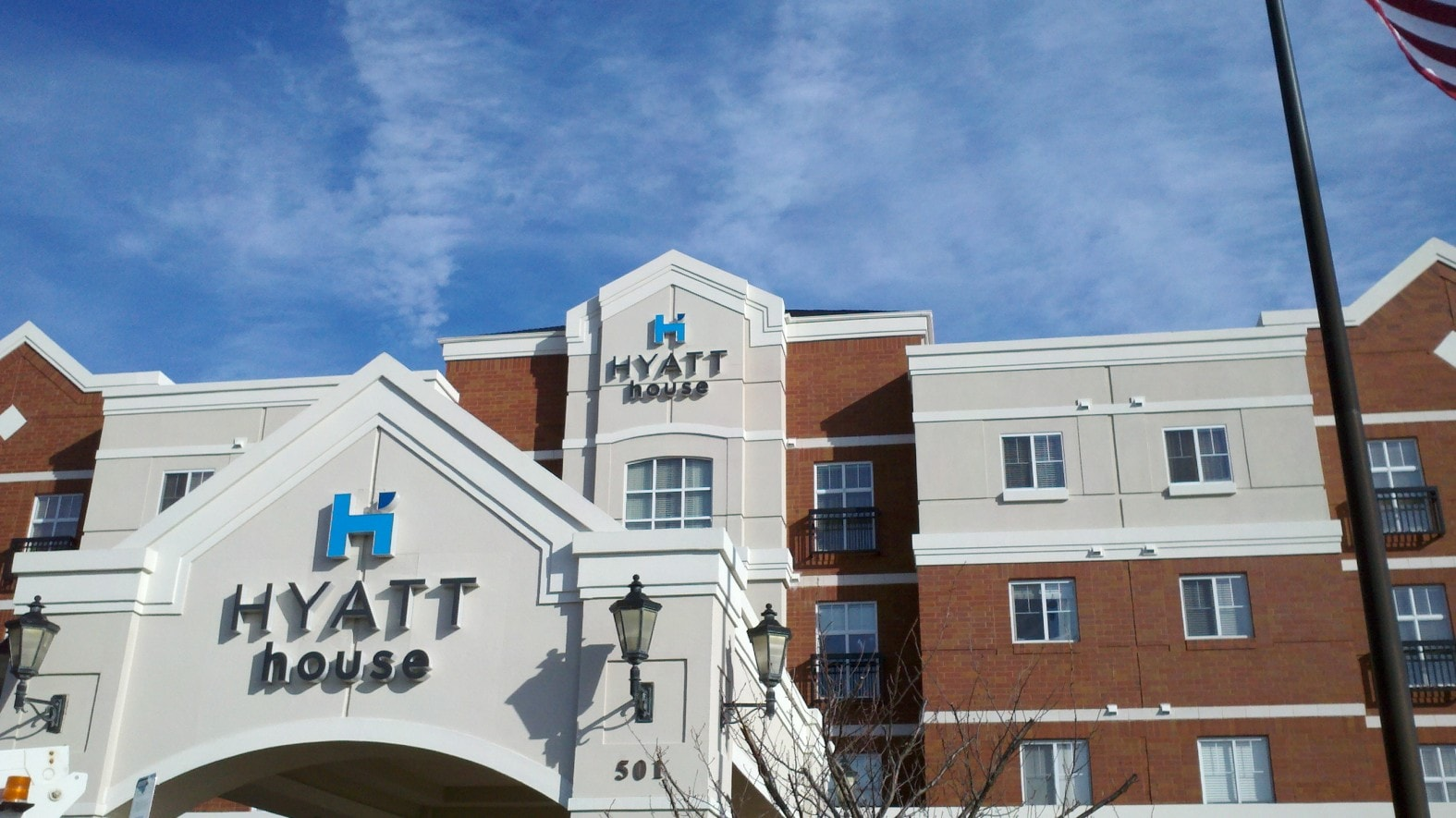 A sign for Hyatt Place